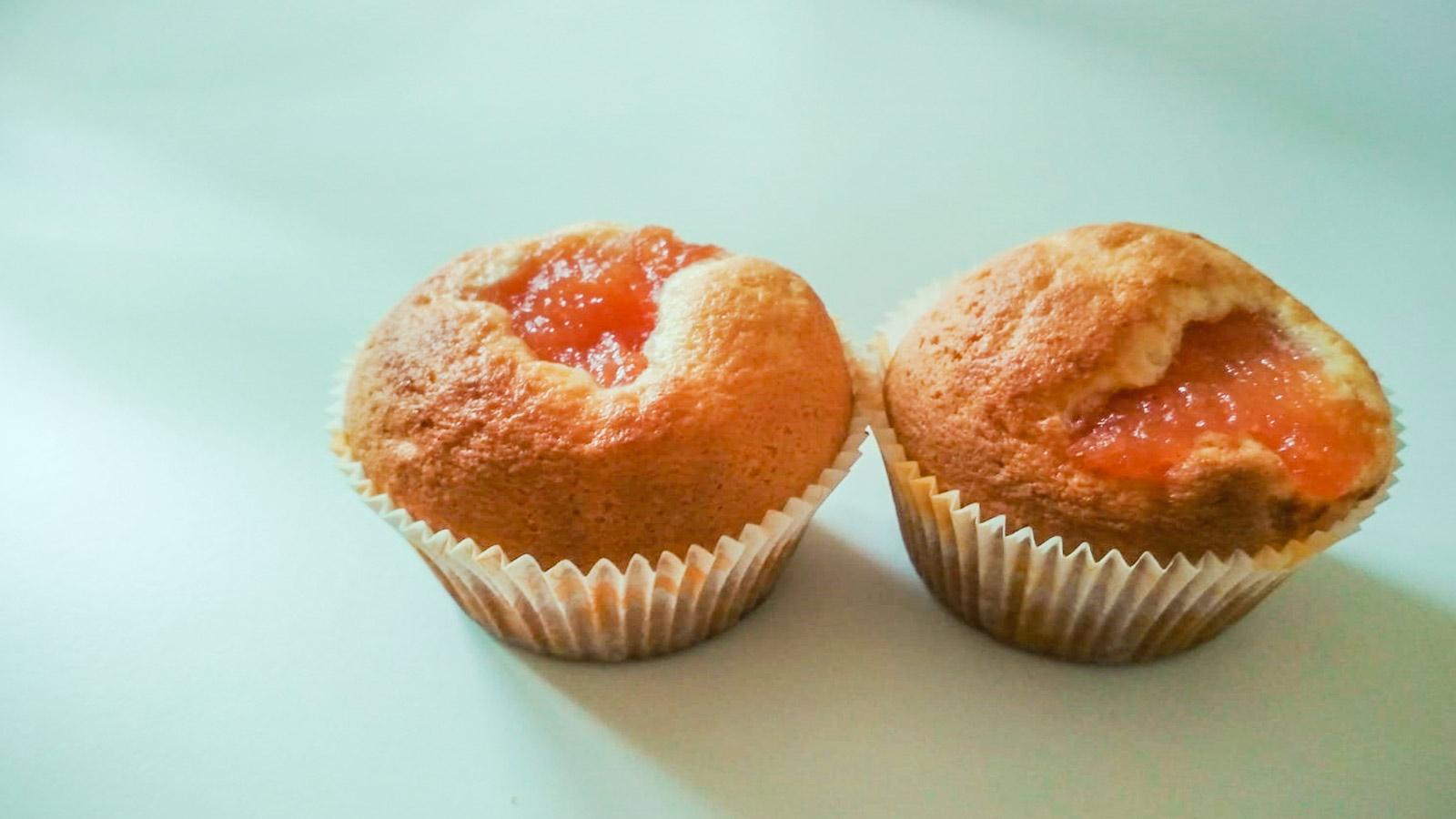 Muffin con confettura di mele cotogne