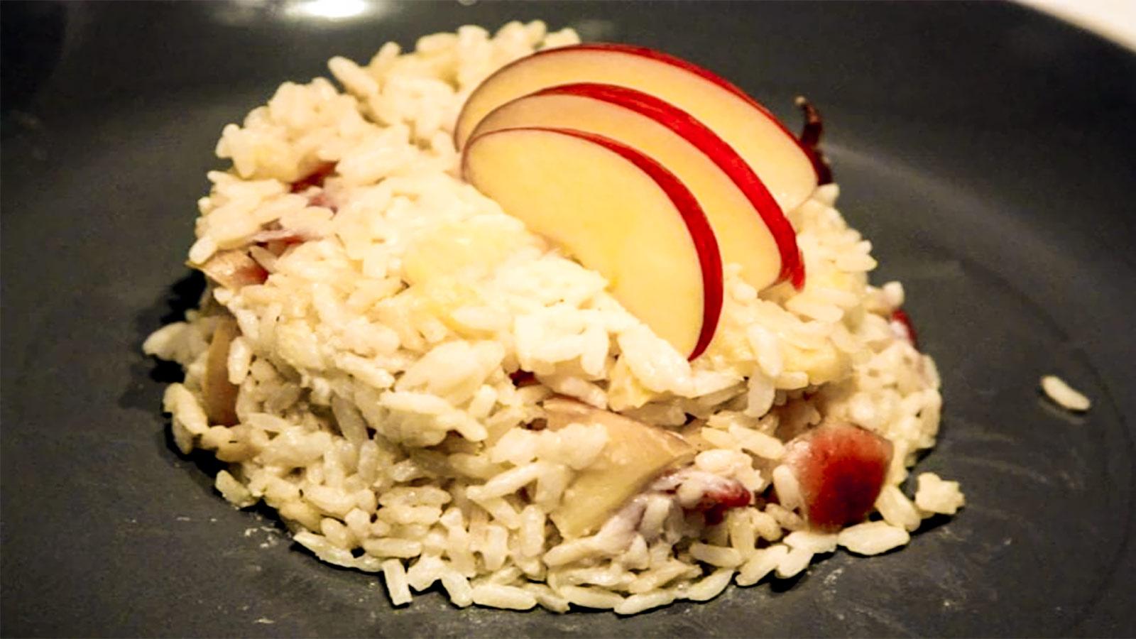 Risotti: Il croccante con le mele